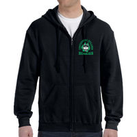 CHES Adult Zip-Up Hoodie Black Thumbnail
